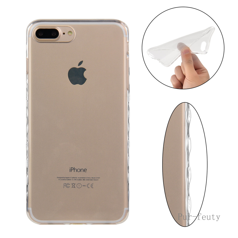 buy silicone cases for apple iphone 7 7plus 7 plus cases transparent tpu cover
