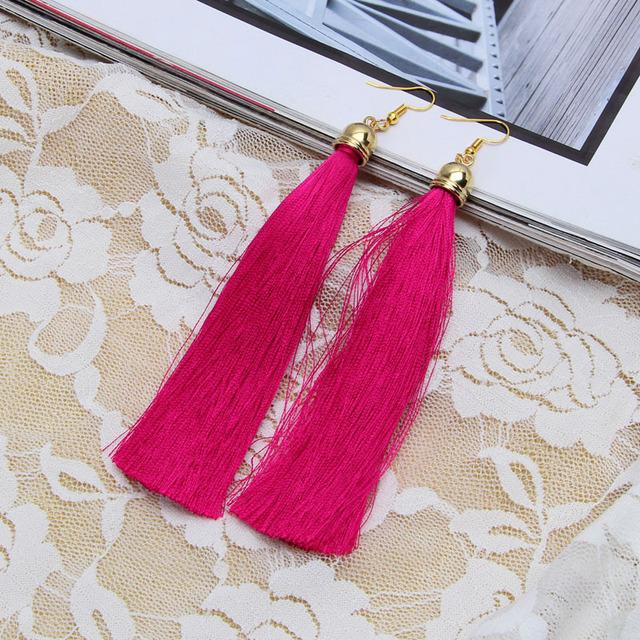 Basic Fashion Long Tassel Earrings