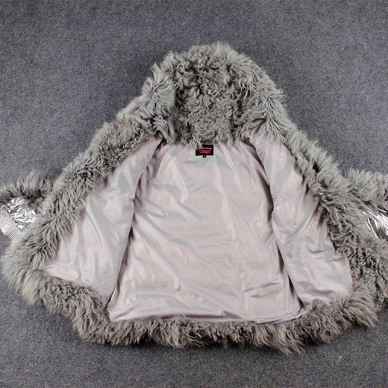 Mongolie Fourrure Moutons Bas Manteau De Femmes Long D'hiver Vers Duvet 1 Veste Argent Parka Parkas Canard 2 Le Chaud PXTuwZilOk