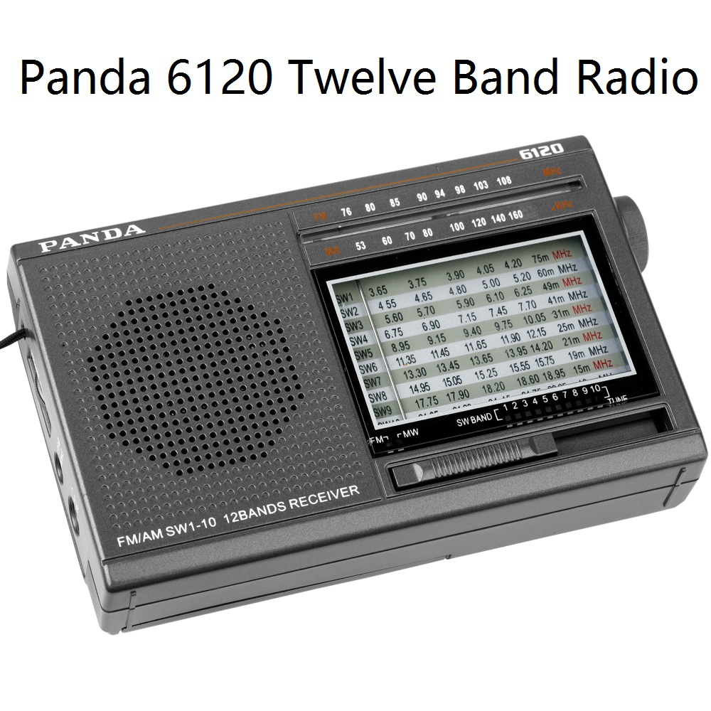 Panda 6120 Twelve Band Radio FM /MW/SW automatic search timer switch machine pocket new appearance super compact carry freeshipping tecsun pl 600 full band fm mw sw ssb pll synthesized stereo portable digital radio receiver pl600