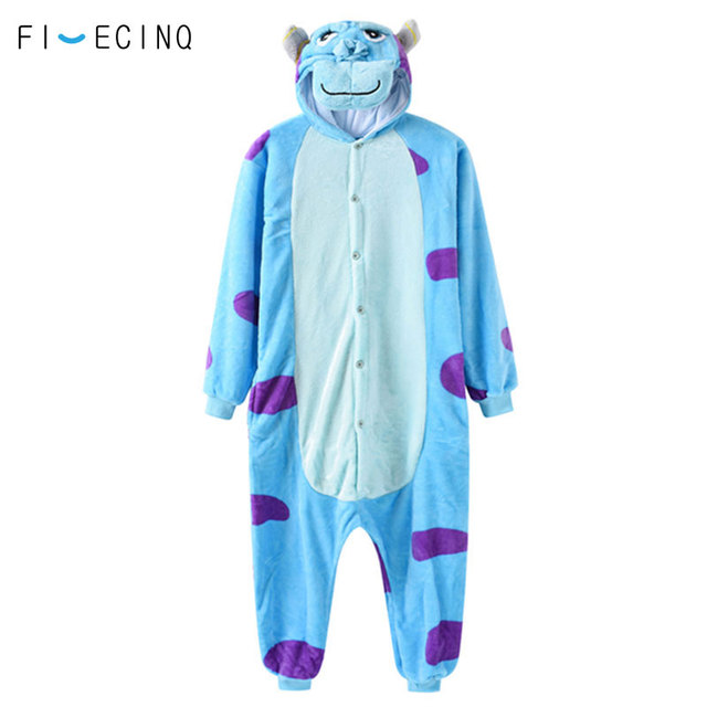 232101e4e1ef Cartoon Anime Character Sully Cosplay Costume Monster Sullivan Blue Onesie  Pajama Adult Women Men Festival Carnival Games Suit