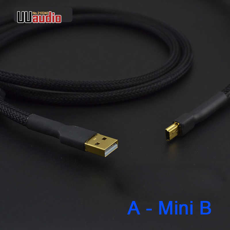 High Quality Dual Magnetic ring A - Mini B USB Cable / Canare L-4E6S Audio-cable for Hifi DAC Amplifier