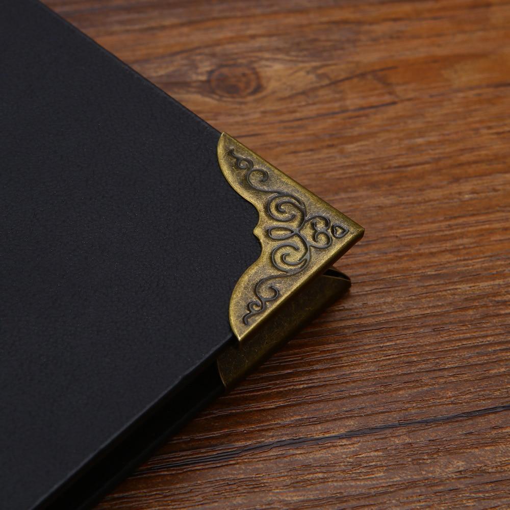 5Pc Retro High Grade Metal Loose Leaf Ring Loose Leaf Binding Ring Corner Clip For Notebook Binder File Folder Diary Bind Supply