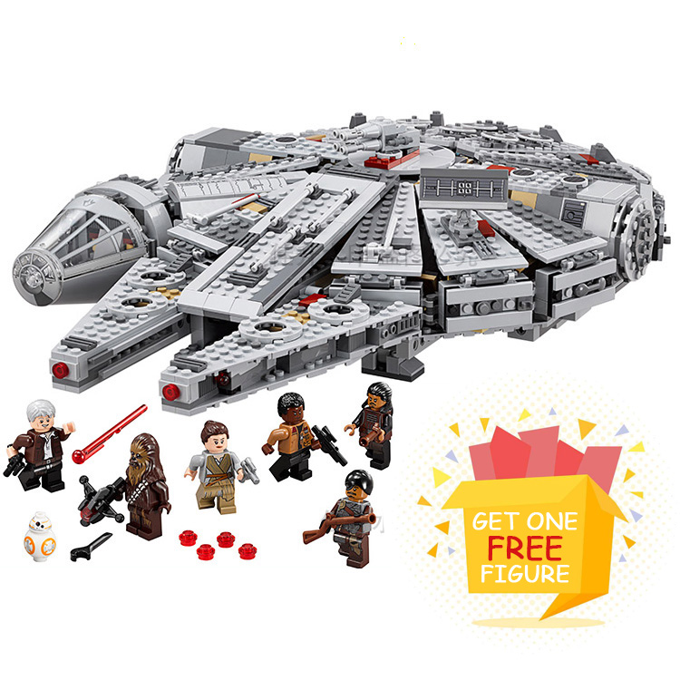 Bela Pogo Compatible Legoe Space Star Wars Ship Millennium Falcon Building Blocks Bricks toys for children Compatible Lepine lepin pogo bela syc81002 syc81004 building blocks of gun soft bullet toy military wars bricks compatible legoe toys gift for kid