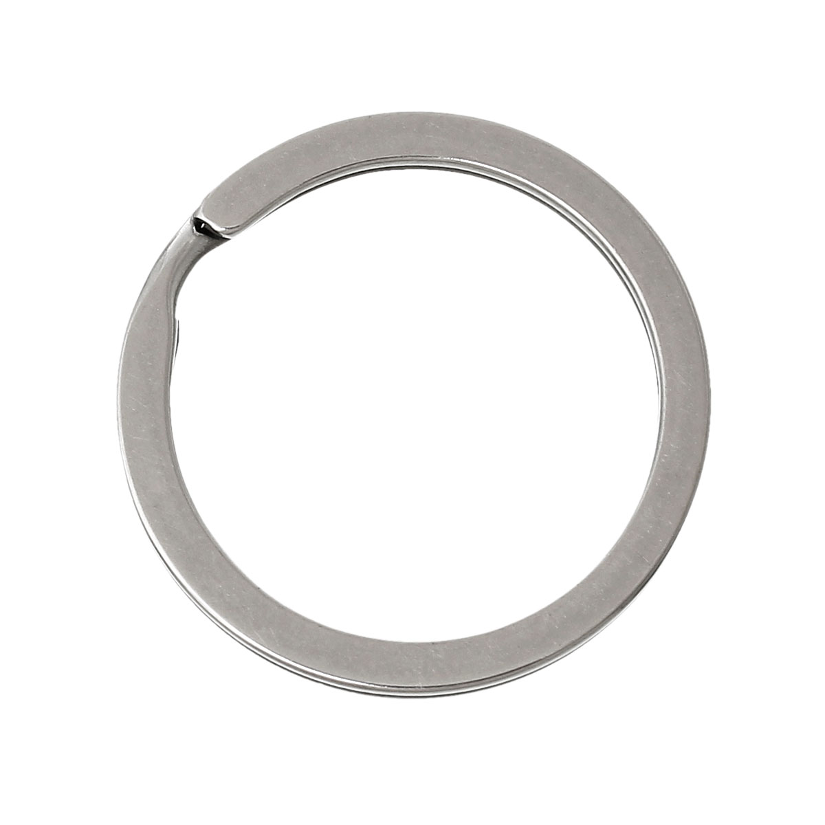 DoreenBeads Stainless Steel Key Chains Key Rings Circle Ring Silver Tone 3.0cm(1 1/8