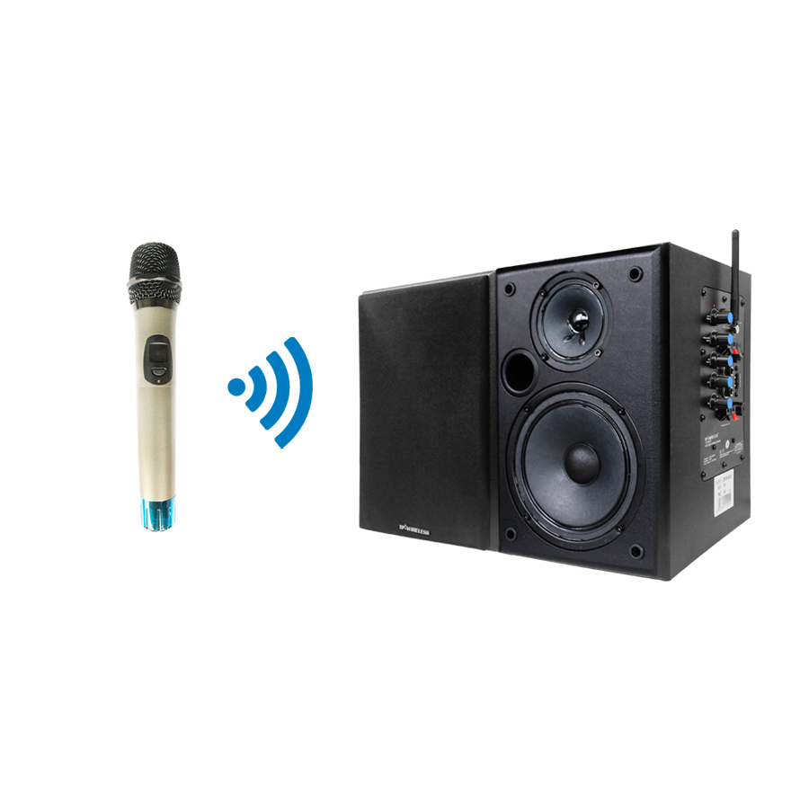 2.4GHz Wireless Classroom Speaker Teaching System Handheld Microphone and Black Speaker for teacher/Church/Conference Room