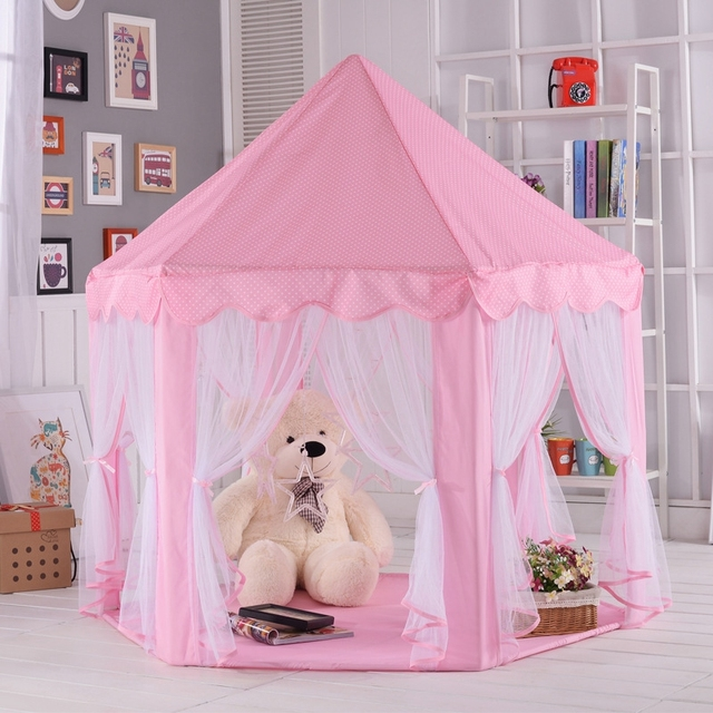 Ortable Princess Castle Play Tent Children Activity Fairy House kids Funny Indoor Outdoor Playhouse Beach Tent & Ortable Princess Castle Play Tent Children Activity Fairy House ...