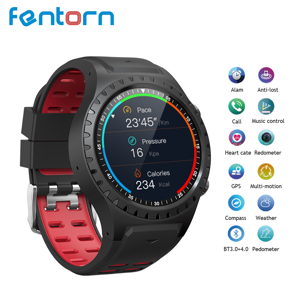 Fentorn M1 Montre Intelligente IP67 Support Étanche carte Micro SIM Bluetooth Composez un Moniteur De Fréquence Cardiaque Montre GPS sport Smartwatch