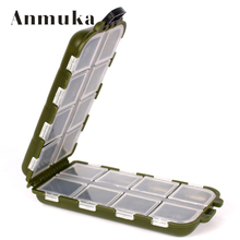 Anmuka 16Lattic Fishing Tackle Boxes Fishing Accessories Case Fish Lure Bait Hooks Tackle Tool for Storing Swivels, Hooks, Lures