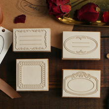 цена на Vintage Border series wood stamp DIY craft wooden rubber stamps for scrapbooking stationery scrapbooking standard stamp