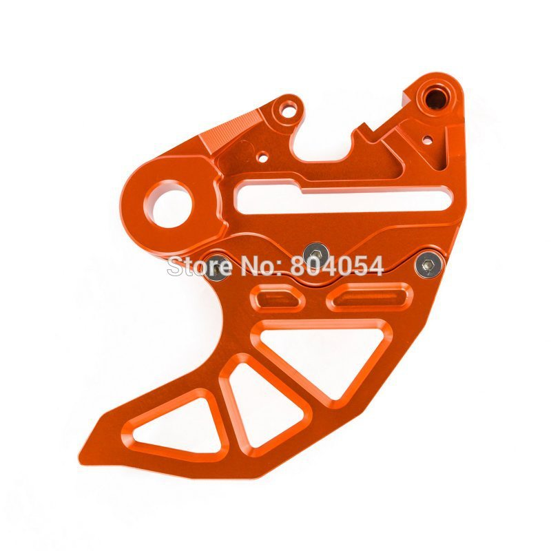 ФОТО CNC BRAKE CALIPER SUPPORT WITH BRAKE DISC GUARD  For KTM SX 2004-2012 EXC 2004-2015 ORANGE