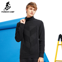 Pioneer Camp New Style Turtleneck Sweater Men Brand Clothing Fashion Autumn Winter Pullover Knitwear Double Collar