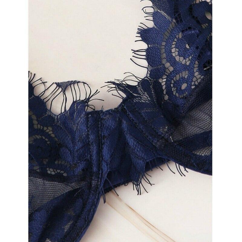 0 Shipping Fashion Women Sexy Sissy See Through Lace Babydoll G String Thong Underwear Bra Set Sexy Soft Nightwear in Bra Brief Sets from Underwear Sleepwears