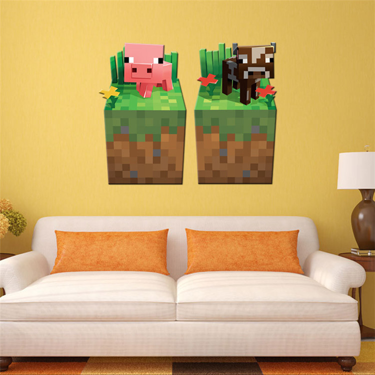 Latest Game Minecraft Enderman Wall Stickers Home Decor Minecraft ...