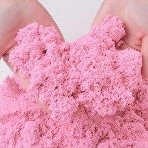 Image 4 - דינמי חול צעצוע חימר חינוכיים צבעוני רך קסם חול חלל מקורה זירה לשחק חול ילדים צעצועים לילדים