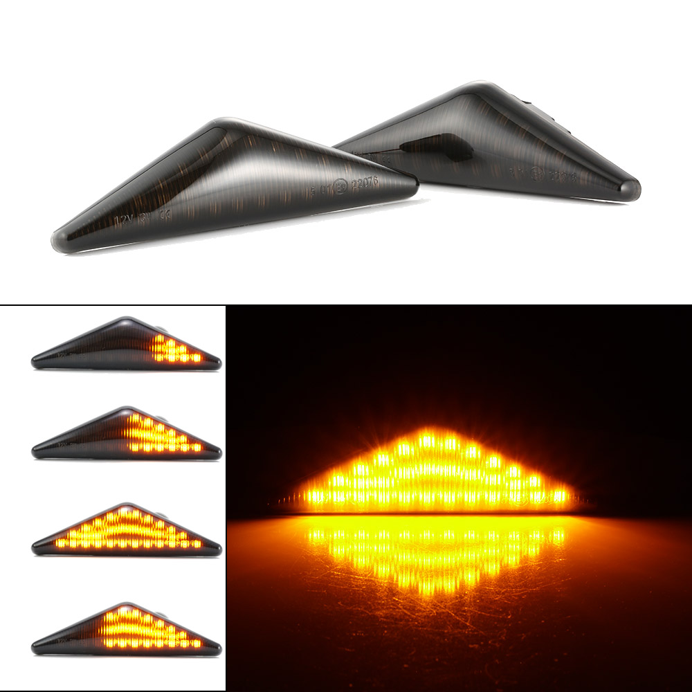 2x Ford Escort MK6 4-LED Side Repeater Indicator Turn Signal Light Lamp Bulbs