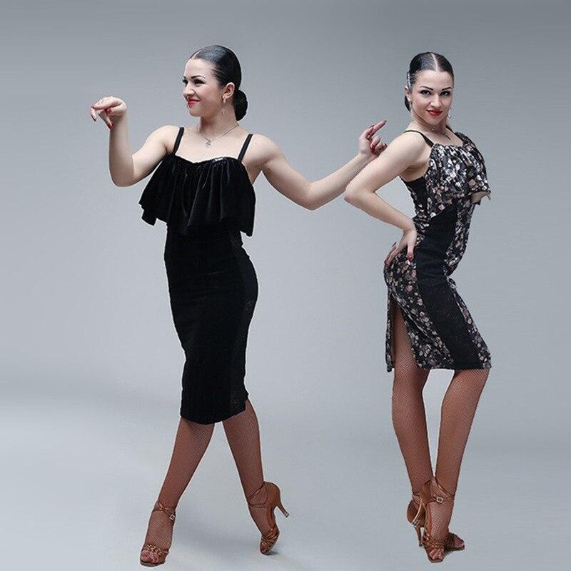 black latin ballroom dress modern dance costume samba salsa latin dress Latin dance dresses for women tango dress