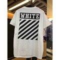2017 estilo clásico de verano off-white t shirt brand clothing off Virgil Abloh blanco impresión de la tela cruzada del algodón t-shirt hombres de Negro camiseta