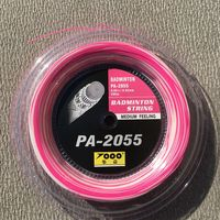 1 Roll 200M Topo PA 2055 NEW Pink And White Badminton Racket Strings 0 7MM Badminton