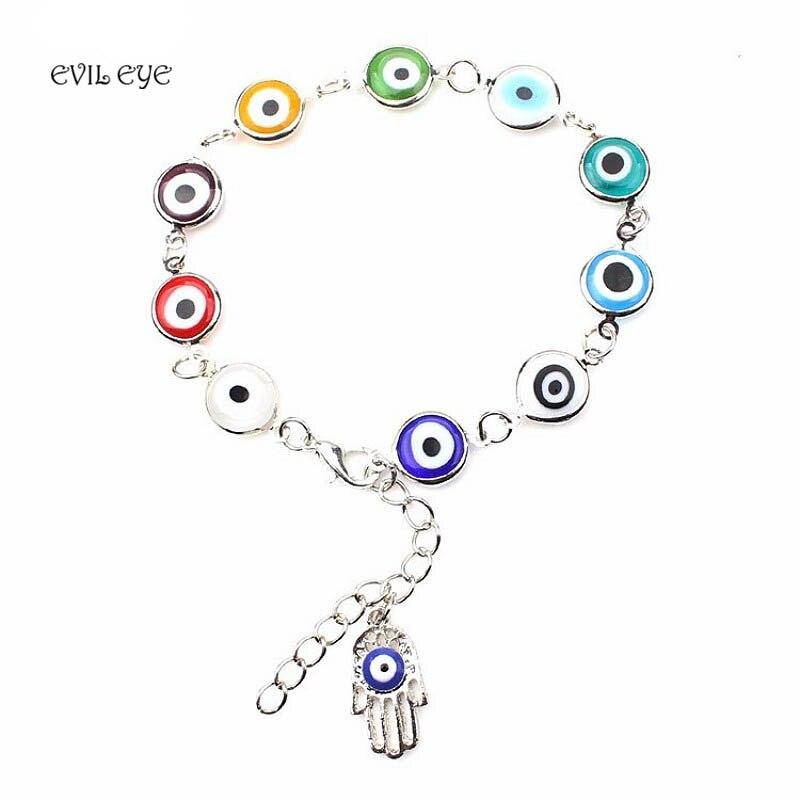 Evil Eye Fashion Charm Women Bracelet Gold Silver Plated Cha