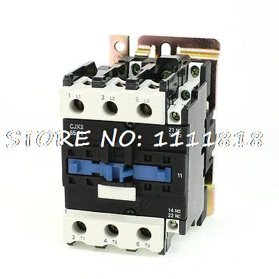 LC1-D6511 DIN Rail Mount AC Contactor 3 Pole One NO 110V-120V Coil 80A motor control ac contactor ac 3 37kw 80a 3p 3 pole 110v 120v coil