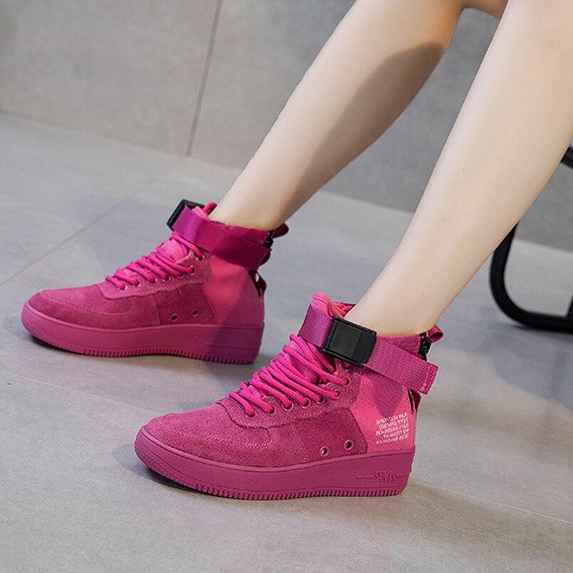 La Cuero Cinturón rose Hip Deportivos Calle Aire Las Z De Respirable Black Tobillo Zapatos white Mujeres Mujer Hop Marea Red Botas khaki Decoración Px0xwq1zI