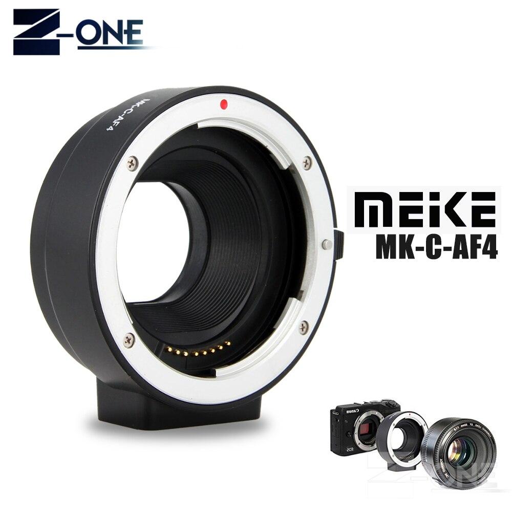 Meike MK-C-AF4 Electronic Auto Focus Adapter for Canon EF EF-S lens to EOS M M1 M2 M3 M5 M6 M10 M50 M100 EF-M mount