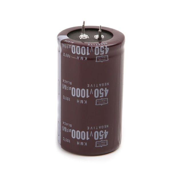عالية التردد 450V 1000 فائق التوهج الألومنيوم مُكثَّف كهربائيًا حجم 35x60