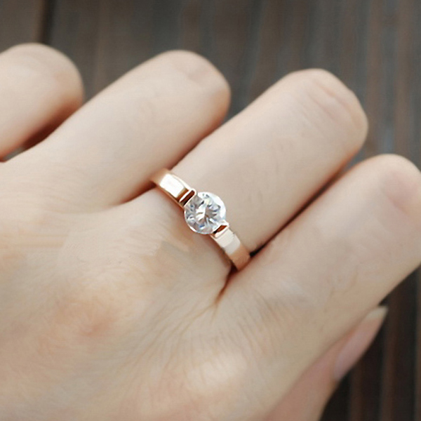 Classic Zircon Jewelry Wedding rings for women Rose Gold color Crystals rings female Anel top quality