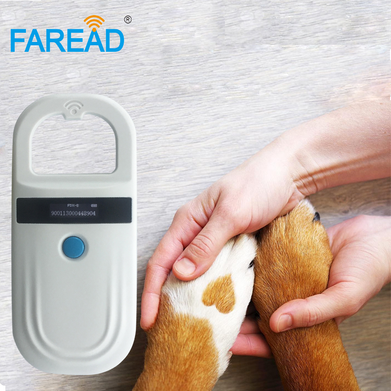Free Shipping 134.2khz RFID Pocket Smaller Dog Chip Scanner Animal Birds Pet Microchip Reader ISO FDX-B Standard