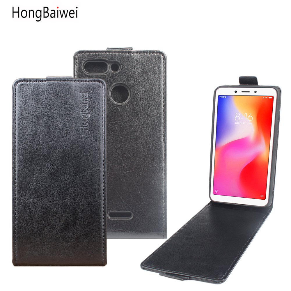 Buy HongBaiwei for Xiaomi Redmi 6 Flip Case Luxury Leather Case Cover for Xiaomi Redmi 6 Open Up and Down Magnetic Protective Shell for only 4.99 USD