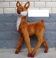 Большой 75x26x105 см моделирование женской пятнистого оленя модели, полиэтилен и меха дома ремесел украшения сада игрушка в подарок a2074