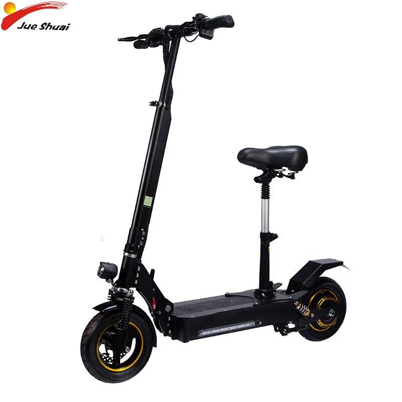 JS 2000 W 48 V Scooter électrique vitesse Max 50 km/h moteur e-scooter avec siège pliable hoverboard deux roues 10 pouces Citycoco ebike