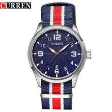 CURREN 2016 New Wristwatches Top Brand Men Luxury Nylon Strap Casual Male Watches Sports Quartz Watch Relogio Masculino 8195
