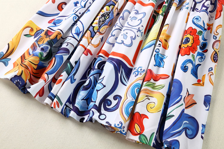 2018 Sans Npd0656n Haute Piste Manches Designer Occasionnelle Dos Strap Qualité D'été Femmes Imprimé Robe Nu Spaghetti De 51np5a