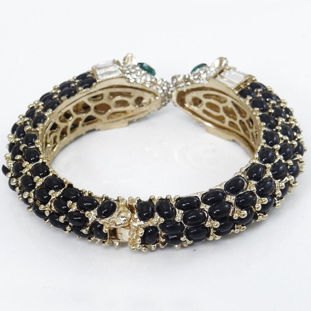 Tuliper Black Kiss Panther Leopard Animal Bracelet Bangle Austrian - Fashion Jewelry - Photo 5