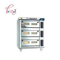 Электрическая печь для пиццы хлеба 3 слоя 6 лотков нержавеющая сталь DFL 36 еда тостер выпечки машина 1 шт