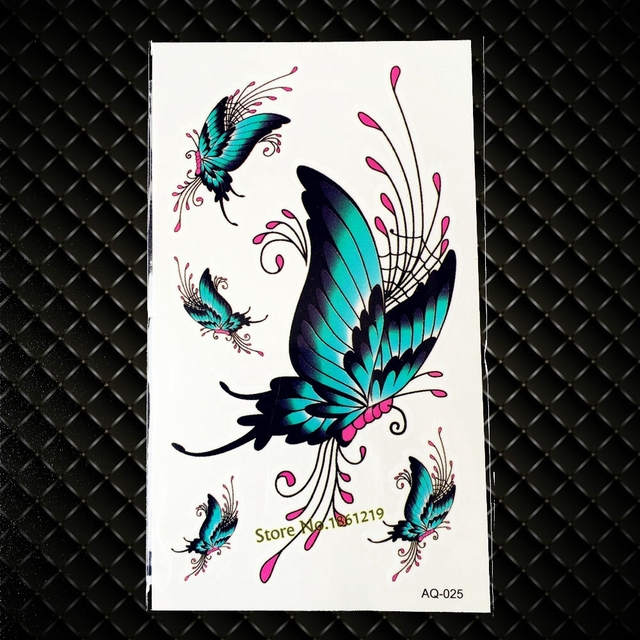 Vivid Verde Mariposa Flash Tatuaje Para Las Mujeres Brazo Hombro