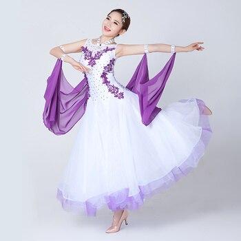 f293cad6ac Mujer Moderna salón de baile competencia vestidos diseñado para adultos  mujeres estándar vals vienés traje de la danza de las señoras