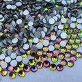 Super Brilhante SS3-SS34 Rainbow Glitter Não Hotfix Cristal Pedras de Strass 3D Decorações Nail Art Natator Pedrinhas