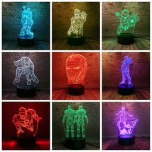 10 Versions 3D LED Iron Man Bulbing Night Lights illusion Colorful Gradient Bedroom Desk Lamp Boys Xmas Festival Birthday Gifts стоимость
