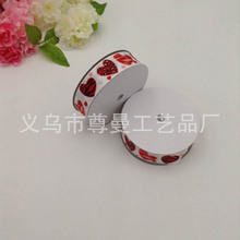 DIY Ribbon Webbing 2.5CM Wide Digital Printing Sublimation Whorl Garment Accessories Valentine Day Heart Shape Series