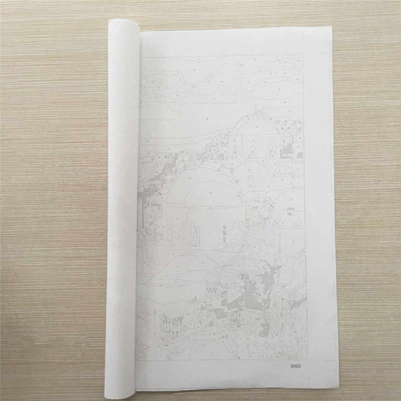 Framedpaintboy защелка цветами лаванды DIY картина, написанная масляными красками по номерам ручная роспись холст домашний декор 40*50 см GX3052