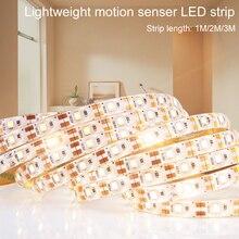 Led Strip 5V PIR Smart Night Light Auto-Sensing 2835 LED Tape Neon Ribbon Waterproof Tiras for Stair Closet Wardrobe