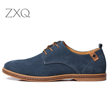 2019 fashion men casual shoes new spring men flats lace up male suede oxfords men leather shoes zapatillas hombre size 38-48 1