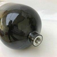 New Design Black 300bar 9L Carbon Fiber SCBA Cylinder Pcp Air Force Condor Paintball SCUBA Diving