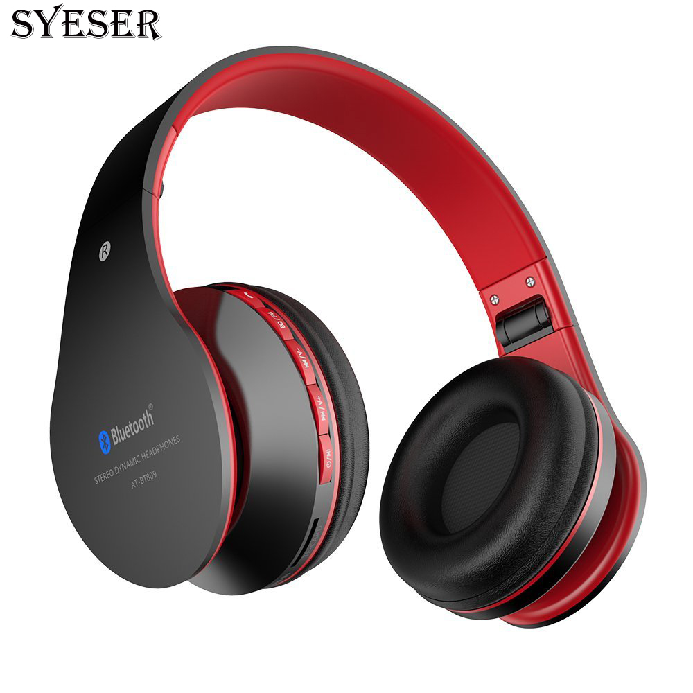 SYESER Wireless Headphone Stereo sound Bluetooth Headset with Micophone support TF Card For iphone ipad mp3 PC TV computer music sports wireless bluetooth stereo headset with fm tf card mp3 music player headphone