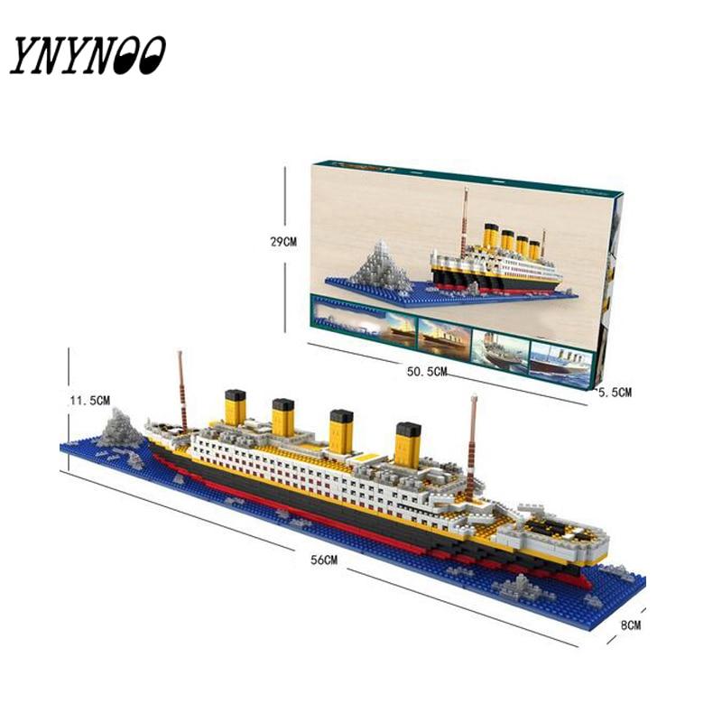(YNYNOO)Titanic Blocks Diamond Building Blocks  Romantic Present DIY Assemblage Model Mini Bricks Gift for Friend and Family high druid of shannara straken