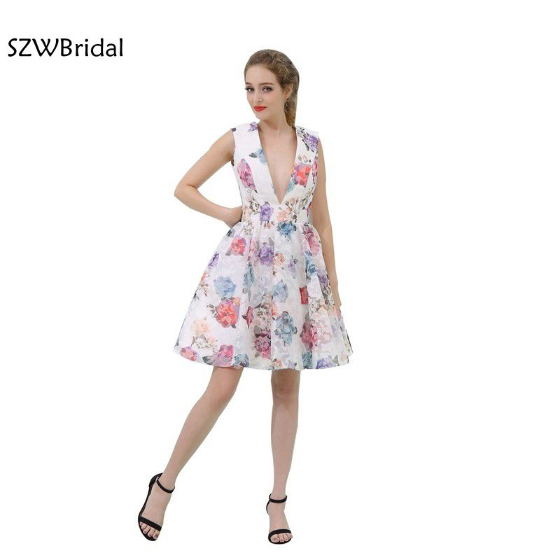 New Arrival V Neck Cap sleeve Sexy   Cocktail     dresses   2019 Backless jurken ever pretty vestido de festa curto   Cocktail     dress