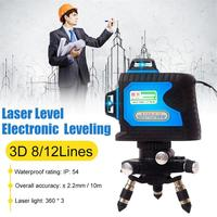 12 Line Level Green Light Laser Level Wall Meter 3d Intelligent Electronic High Precision Automatic Line Instrument Line Meter